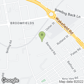 Map of Bowling MOT Centre in Bradford, west yorkshire