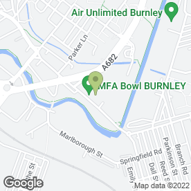 Map of Costa Coffee in Burnley, lancashire