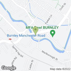 Map of Central Garage Burnley MOT Tests in Burnley, lancashire