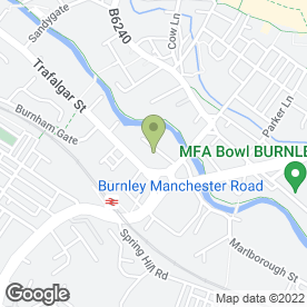 Map of Burnley Masonic Hall Co in Burnley, lancashire