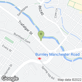 Map of Enterprise Rent-A-Car in Burnley, lancashire