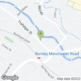 Map of Kitchens Service Station in Burnley, lancashire