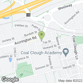Map of Taywood Nursery School & Extended Services in Burnley, lancashire