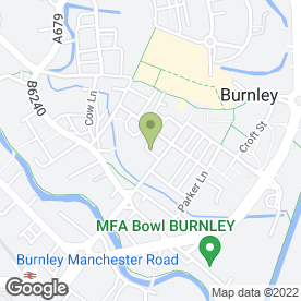 Map of Mac's Sandwich Bar in Burnley, lancashire