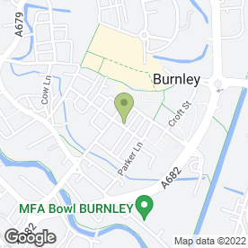 Map of KM Chartered Accountants in Burnley, lancashire