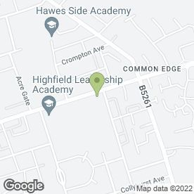Map of Highfield Humanities College in Blackpool, lancashire