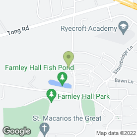 Map of Farnley Sports & Social Club in Leeds, west yorkshire