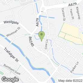 Map of Sanctuary Rock Bar in Burnley, lancashire