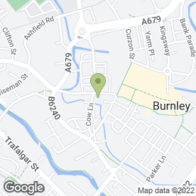 Map of St. James Coffee House in Burnley, lancashire