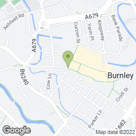 Map of Munch in BURNLEY, lancashire