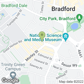 Map of Chris Eyres Designs in Bradford, west yorkshire