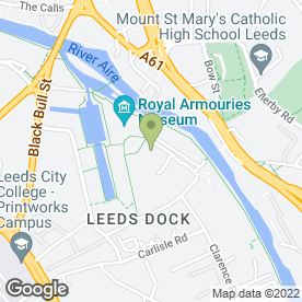 Map of Jikishin Kobudo Martial Arts in Leeds, west yorkshire