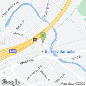 Map of Burnley Metalcraft Ltd in Burnley, lancashire