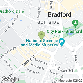 Map of Chicken Cottage in Bradford, west yorkshire
