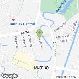 Map of Physiofusion Ltd in Burnley, lancashire