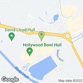 Map of Cineworld Cinemas in Hull, north humberside