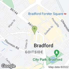Map of Chambers Solicitors in Bradford, west yorkshire