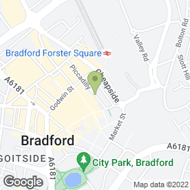 Map of Petherbridge Bassra Solicitors in Bradford, west yorkshire