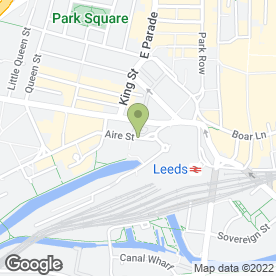 Map of Millie's Cookies in LEEDS, west yorkshire
