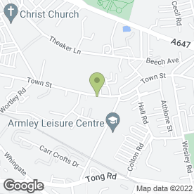 Map of The Great Wall in Armley, Leeds, west yorkshire