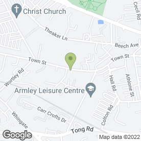 Map of Armley Medical Centre in Armley, Leeds, west yorkshire