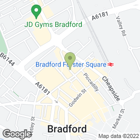Map of Threads in Bradford, west yorkshire