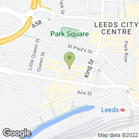 Map of Atkinson Associates in Leeds, west yorkshire