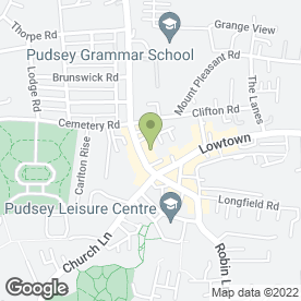 Map of Charis Beauty Salon in Pudsey, west yorkshire