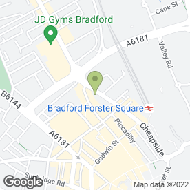 Map of RDC Solicitors in Bradford, west yorkshire