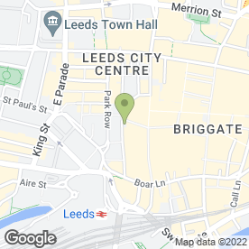 Map of Thomson Bureaux de Change in Leeds, west yorkshire
