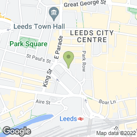 Map of Pret a Manger in Leeds, west yorkshire