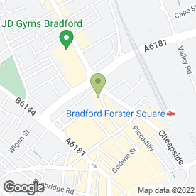 Map of learndirect centres in Bradford, west yorkshire