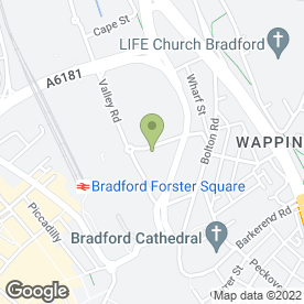 Map of Mill Street Coffee Shop in Bradford, west yorkshire