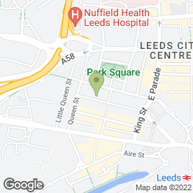 Map of Mortgage Advice Bureau in Leeds, west yorkshire