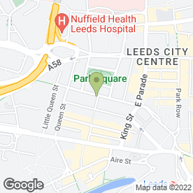 Map of Peeled Orange in Leeds, west yorkshire