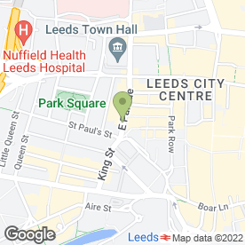 Map of Royal Bank of Scotland in Leeds, west yorkshire