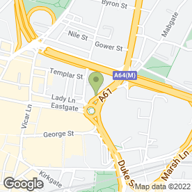Map of Jobcentre Plus in Leeds, west yorkshire