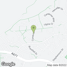 Map of jb uk Blinds in Burnley, lancashire