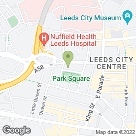 Map of Gloria Kimberley Family Homeopath in Leeds, west yorkshire