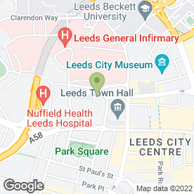 Map of Morrish Solicitors LLP in Leeds, west yorkshire