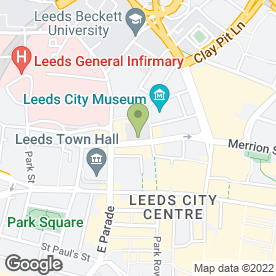 Map of Electric Press in Leeds, west yorkshire