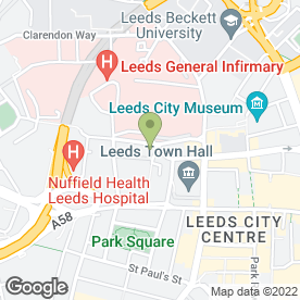 Map of Victoria Hotel in Leeds, west yorkshire