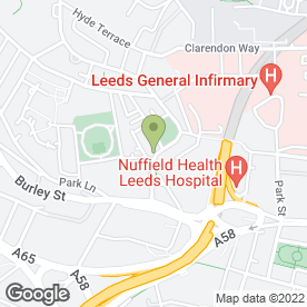 Map of Mawsons in Leeds, west yorkshire