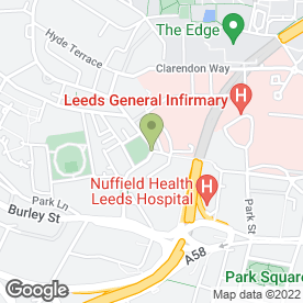 Map of Swarthmore Education Centre in Leeds, west yorkshire
