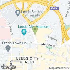 Map of Greggs in Leeds, west yorkshire