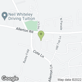 Map of Home Guard in Allerton, Bradford, west yorkshire