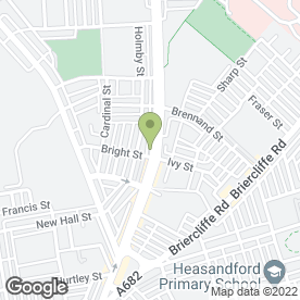 Map of Burnley Properties Estate & Letting Agents in Burnley, lancashire