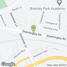 Map of Brite Print Solutions in Stanningley Road, Leeds, west yorkshire