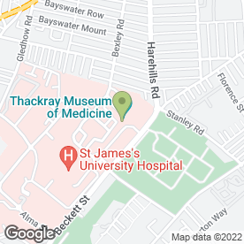 Map of Thackray Museum in Leeds, west yorkshire