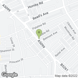 Map of Cash for Clothes in Blackpool, lancashire